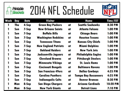 photograph about Printable Nfl Schedules identify Printable NFL Schedules for All 32 Groups Previously Offered at