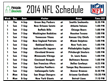 Printable NFL Schedules for All 32 Teams Now Available at...