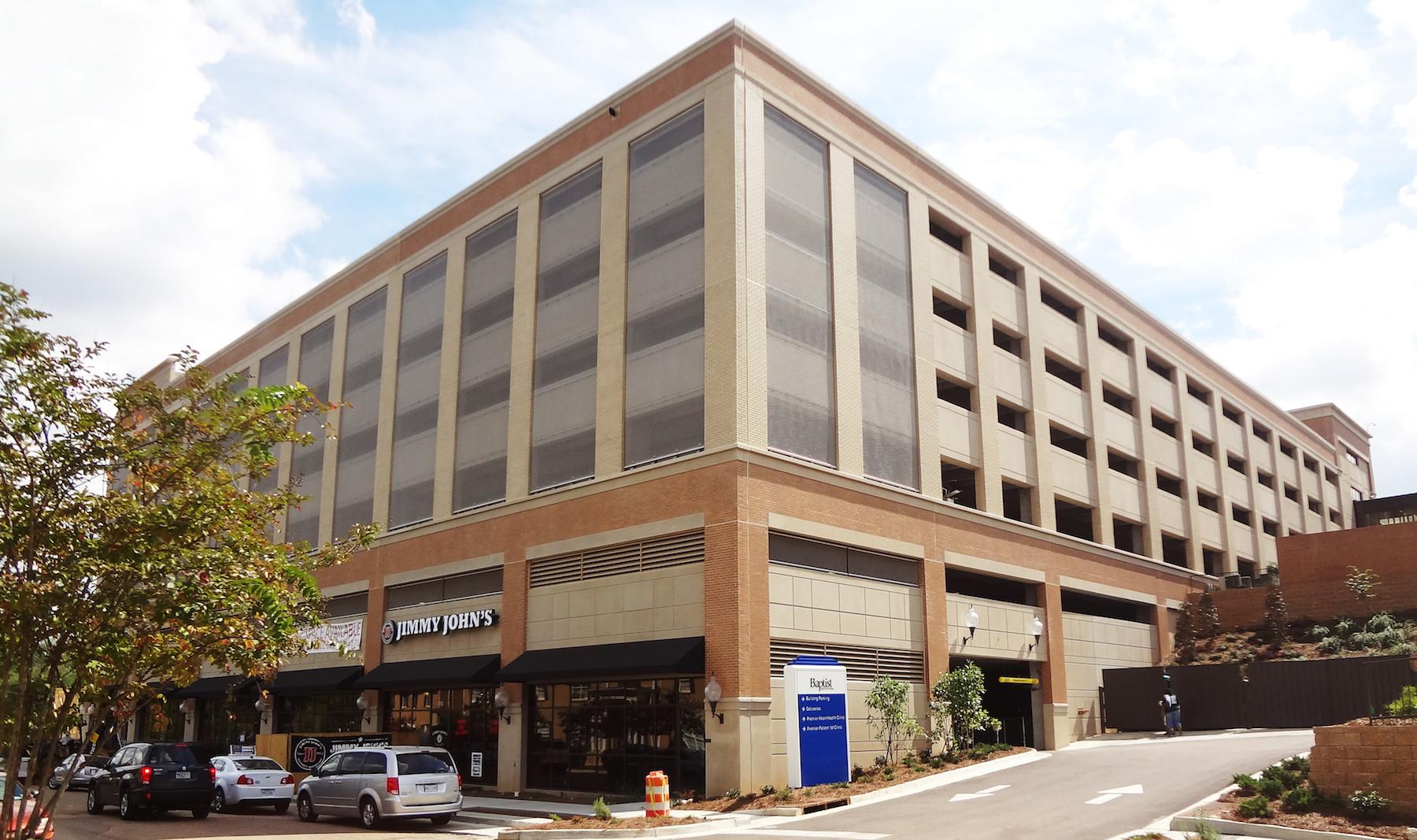 Architectural Mesh Transforms Exterior Parking Facades In