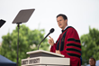 President Jerry Falwell speaks at Liberty's 2014 Commencement ceremony.
