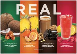 Yogurtland, frozen yogurt, hand-crafted, tangerines, peanuts, peanut, butter, Oreo cookies, pineapples, raspberries, coconut