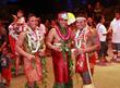 The three finalists (from L-R) Falaniko Penesa, 23 of Samoa; Via Tiumalu, Jr., 22 of Orlando; Malo Matau, Jr., 20 of Laie, HI