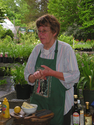 Betsy Williams of Needham MA teaching an herb class