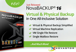 Just Released - NovaBACKUP 16