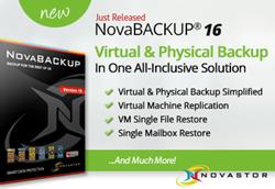 Just Released - NovaBACKUP 16