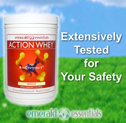 Action Whey with BioCysteine3 Provides Maximum Nutrition with the Assurance of Safety