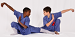 Two youngsters in Kung Fu pairing