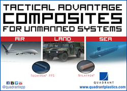 Quadrant Engineering Plastic Products (EPP) lightweight yet durable composites, thermoplastics and polymers used in the design and fabrication of unmanned vehicle systems (UV's).