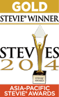 Gold Stevie Award Winner in 2014 Asia-Pacific Awards