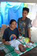 Nokero solar lights promote sustainable lifestyles around the world. In the Philippines, this couple will never have to expose their child to dangerous fuels because they have a Nokero light. Photo cr