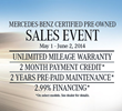 Mercedes-Benz of Arlington Certified Pre-Owned Sales Event