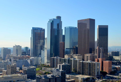 picture of los angeles city skyline