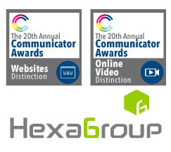 HexaGroup receives Silver Awards of Distinction at 2014 Communicator Awards