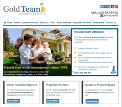 Vancouver Rental Management Company, Gold Team, Launches New Website