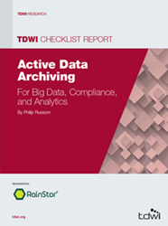 image of the 2014 TDWI Checklist Report on Active Data Archiving