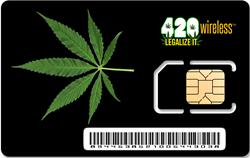 420 Wireless Prepaid Cell Phone SIM Card