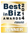 Best in Biz Awards 2014 EMEA gold winner logo