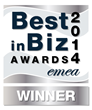Best in Biz Awards 2014 EMEA silver winner logo