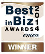 Best in Biz Awards 2014 EMEA bronze winner logo