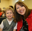 Matthew and his mom kick off the Mother's Day weekend with the rest of his kindergarten class at Everest Academy