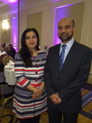 Aina with Farooq Murad, Secretary General of MCB at Muslim Council of Britain Leadership Dinner