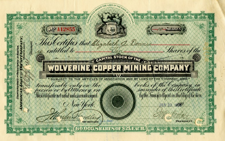 mining certificates united company states copper canada companies prweb extinct scripophily