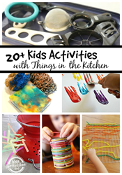 play ideas for kids in the kitchen