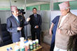 Kunwar demonstrates to Nepal Dep Prime Minister the Narconon use of vitamins and nutrients in its drug-free program.