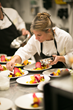 Chef Maria Elia prepares special small plates for The Landing Resort & Spa's January 2014 Grand Opening party.