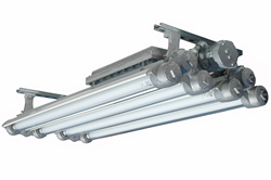 Explosion Proof UV Fluorescent Light for paint curing, pest management, and germicidal applicaitons