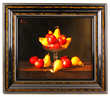 Jean-Claude Chauray (1934-1996), still life with fruit, oil on canvas.