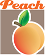 Restaurant Management Software Peach Logo
