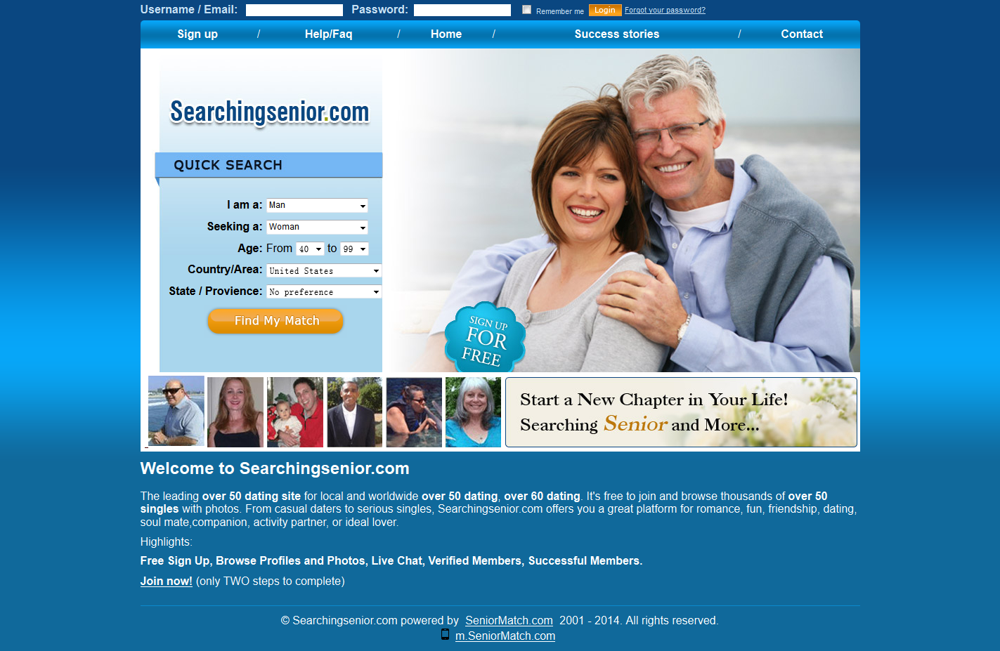Free dating sites for over 50