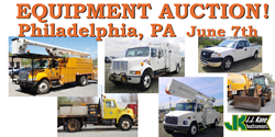 Public Equipment Auction Plymouth Meeting, PA (Philadelphia area)  Used bucket trucks, digger derricks, and more!