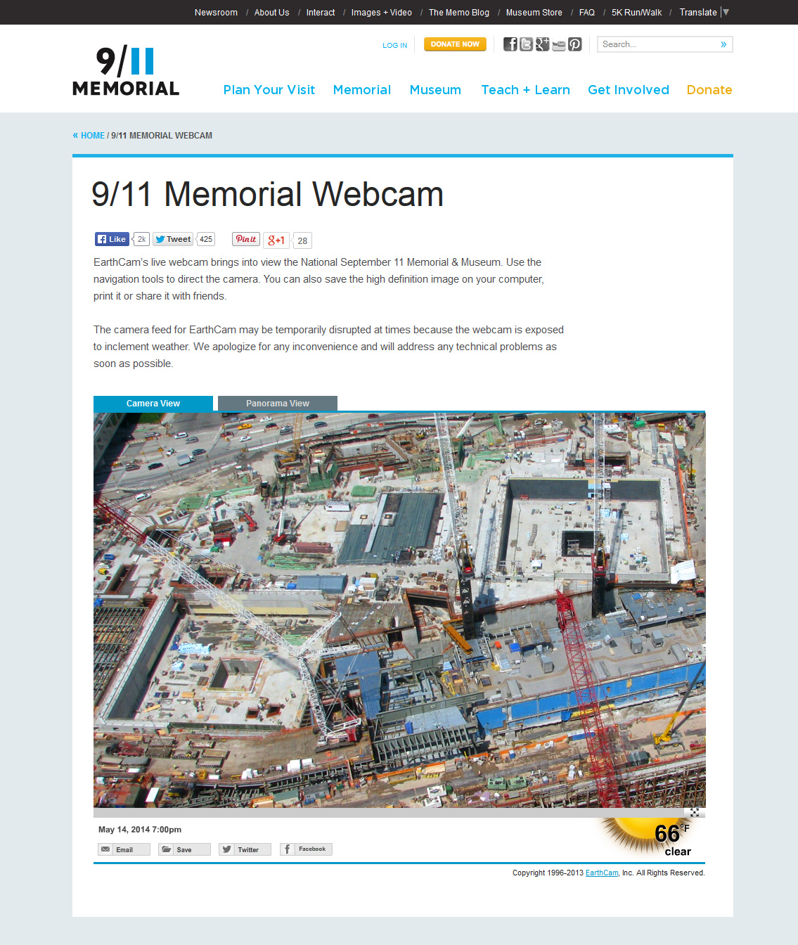 Earthcam commemorates the opening of the 911 memorial museum with partnering with the 911 museum earthcam shares construction progress on an interactive webpage gumiabroncs Gallery