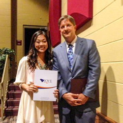 Joye Law Firm Scholarship Recipient Caryn Ramelb and Atty. Ken Harrell