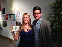 Amber Schmitzer and Chase Kahn, Launch Agency scholarship recipients.