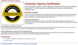 Screen capture of the CLLA's certification web portal