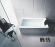 Glass by Nameeks White 67 Inch Bathtub with Three Panels PR000A0-3