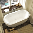 Atlantis Aquatica 34 x 71 x 21 - Inch Rectangular Soaker Bathtub 3471AS