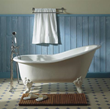herbeau 0706 charleston 5.5 foot cast iron clawfoot soaking tub with center drain