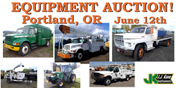 Portland Oregon Public Auction used bucket trucks for sale
