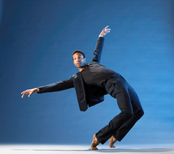 Principal Dancer Jermel Johnson in Matthew Neenan's Penumbra. Photo: Alexander Iziliaev.