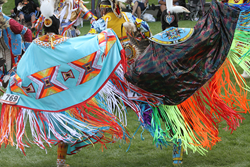 Women's Fancy Shawl dance, 2013 Plains Indian Museum Powwow. Buffalo Bill Center of the West photo by Ken Blackbird.