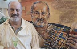 Jacques Moore with his Spirit Capture Oil Portrait Commission