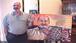 Jacques Moore with his Spirit Capture Oil Portrait Commission