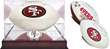 Signed 49ers logo football. 