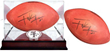 """Have Roger sign an Official Wilson """"Duke"""" football pre-signed by current all-star running back Frank Gore.VIP Event Price: $295VIP Price + Display Case: $350Personalization Fee: $10"""