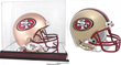 Have Roger sign a 49ers Throwback mini-helmet. pre-signed by current all-star running back Frank Gore.