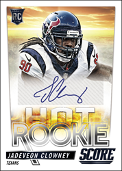 NFL, sports cards, Houston Texans, South Carolina, Jadeveon Clowney, Panini America